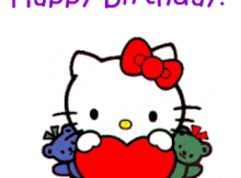 Happy Birthday con Hello Kitty