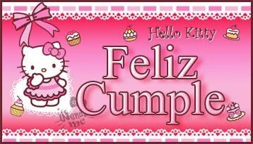 Imagenes de cumpleaños de Hello Kitty