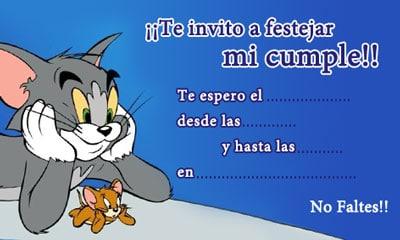 Tarjetas de cumpleaños de Tom y Jerry