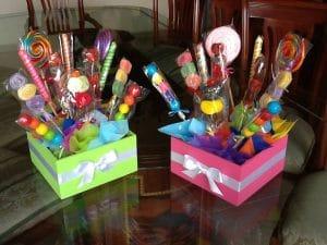 Regalos de cumpleaños con dulces