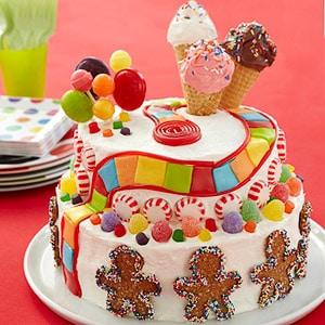 Tortas de cumpleaños con dulces