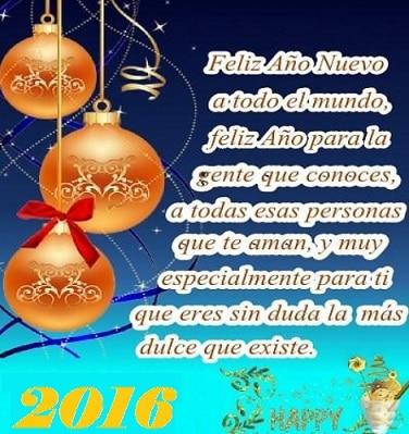 Feliz año 2016, imágenes para felicitar el Año Nuevo 2016.